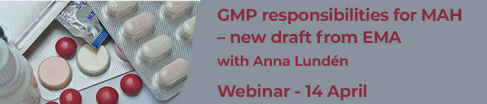 GMP responsibilities for MAH – new draft from EMA